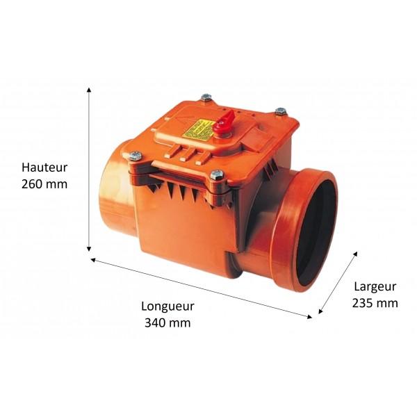 Dimensions du clapet anti-retour diamètre 160